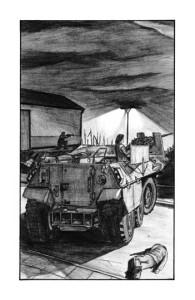 Ilustracja do książki - Jak błyskawice, David Dreake.