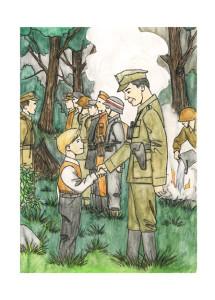 Ilustracja do książki Rycerze lasu, Joanny Gajewskiej i Weroniki Zaguły.