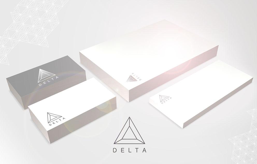 DELTA logotyp 3d flara