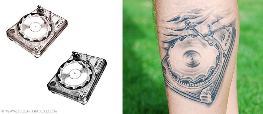tatuaz gramofon